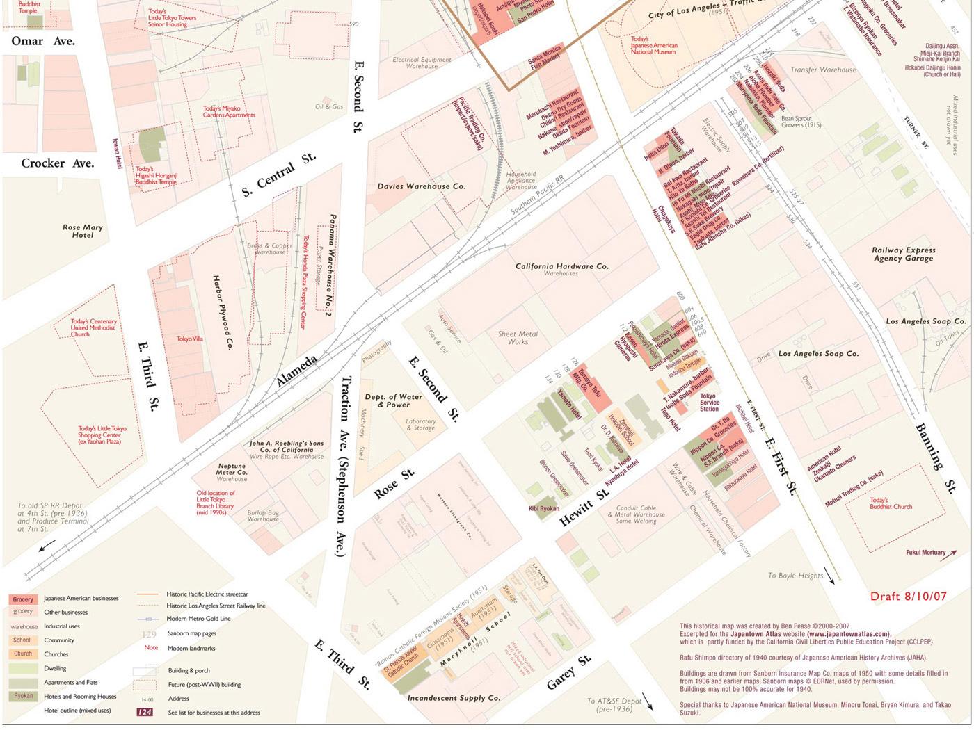 Little Tokyo Detail Map Normal View