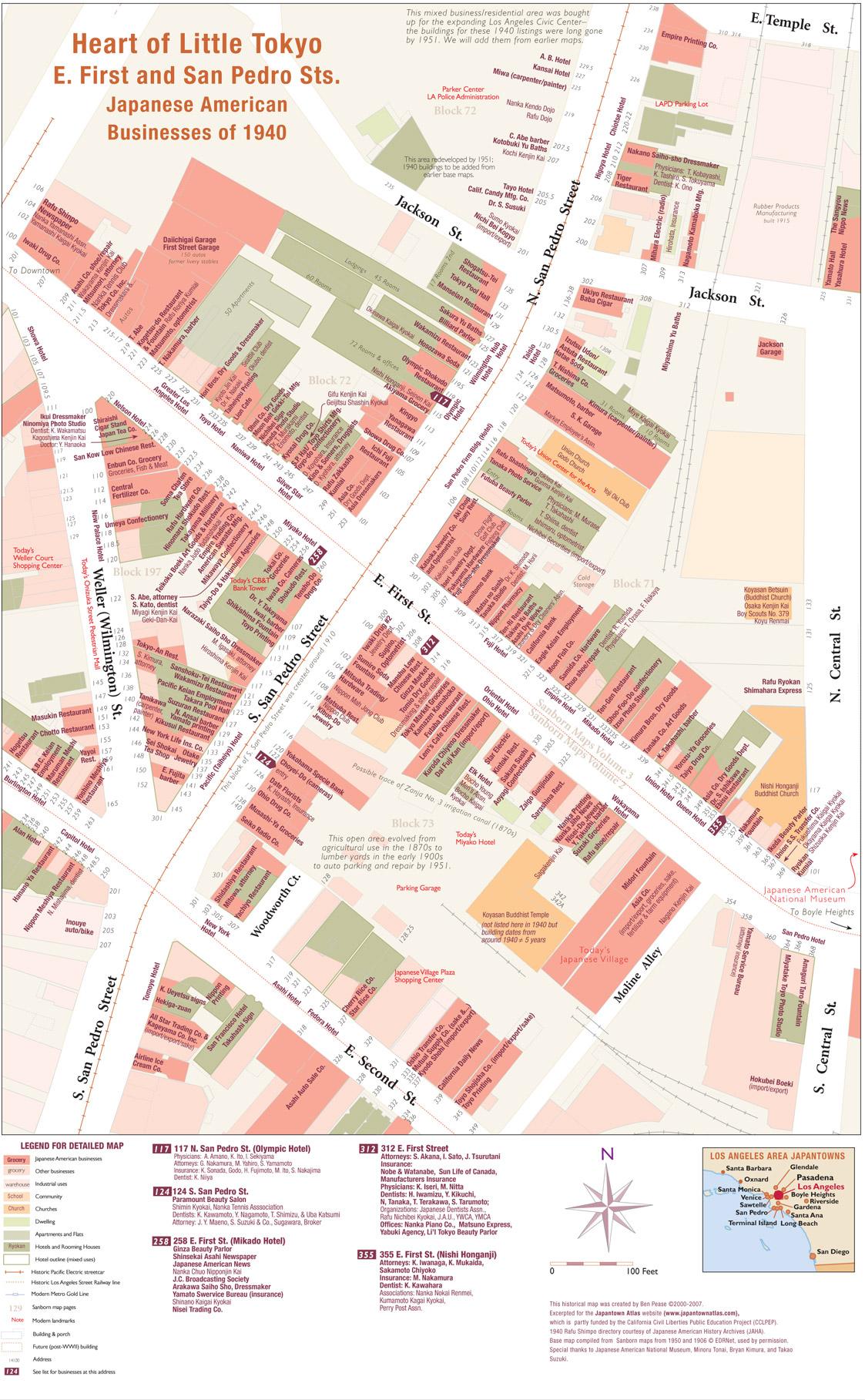 Heart Of Little Tokyo Map
