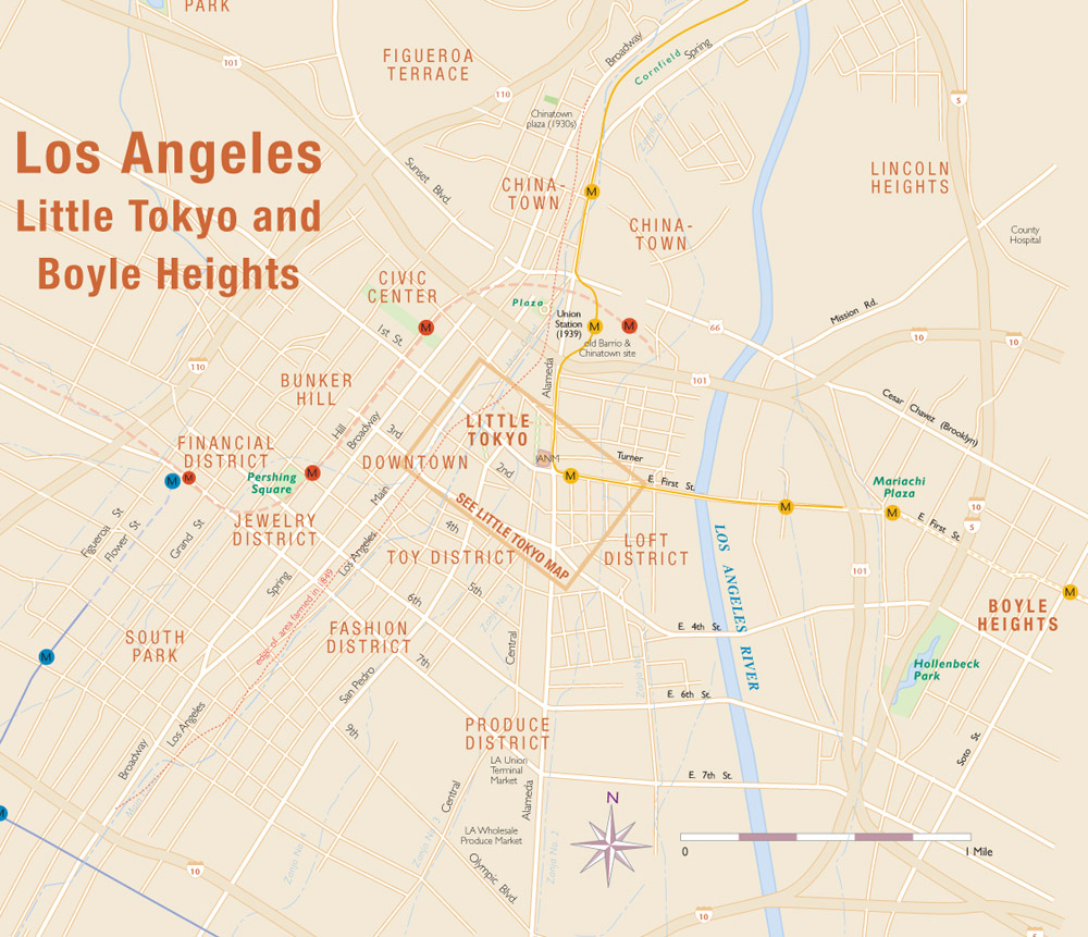 LA Little Tokyo And Boyle Heights Geography